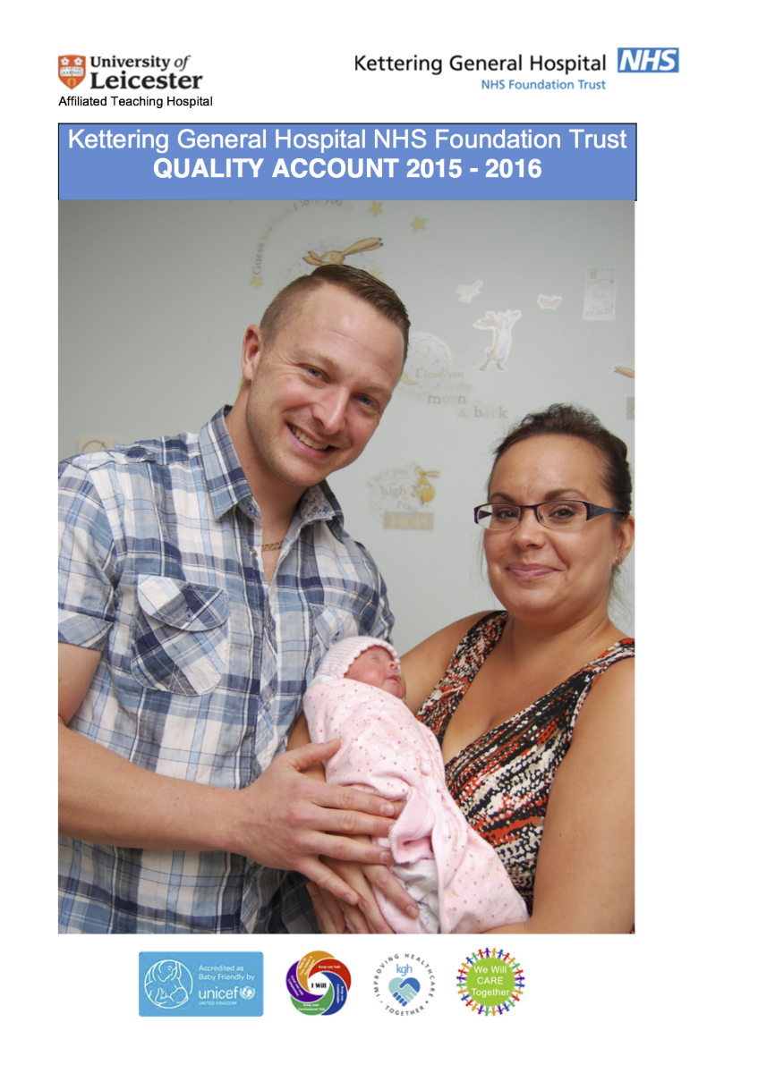 front cover of quality account 2015-2016