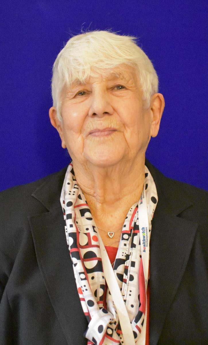This image of Sheila White for her biography as a nominated governor representing Northamptonshire Health Watch