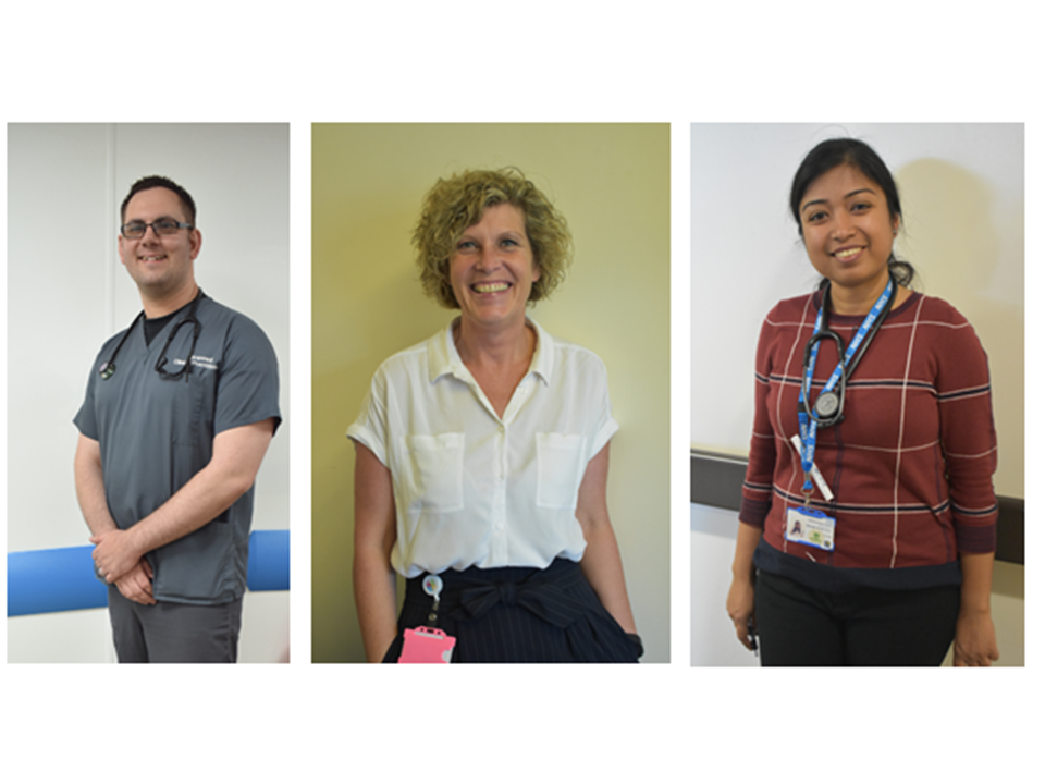Recruitment Event imgae of three different staff groups administrator, doctor and specialist nurse May 2019