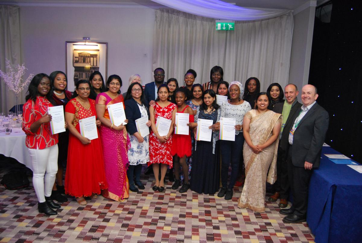 International Return to Practice Nurses receive their awards from Director of Nursing and Quality, Leanne Hackshall and Chief Executive, Simon Weldon