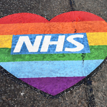 NHS thank you heart, as seen on Rothwell Roaf May 2020