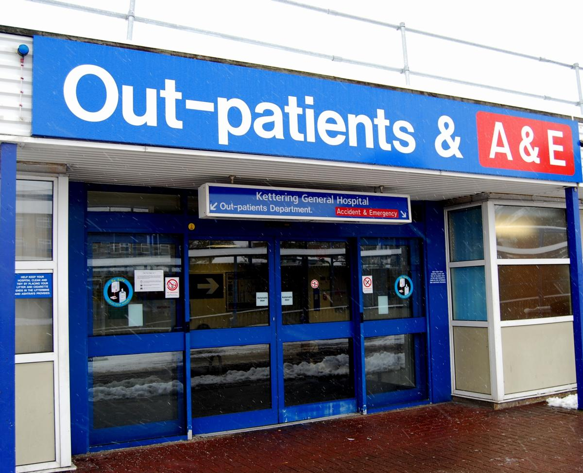 Image of the outside of the building to A&E. Please attend KGH's A&E department on your own where this is possible to support appropriate social distancing in the department.