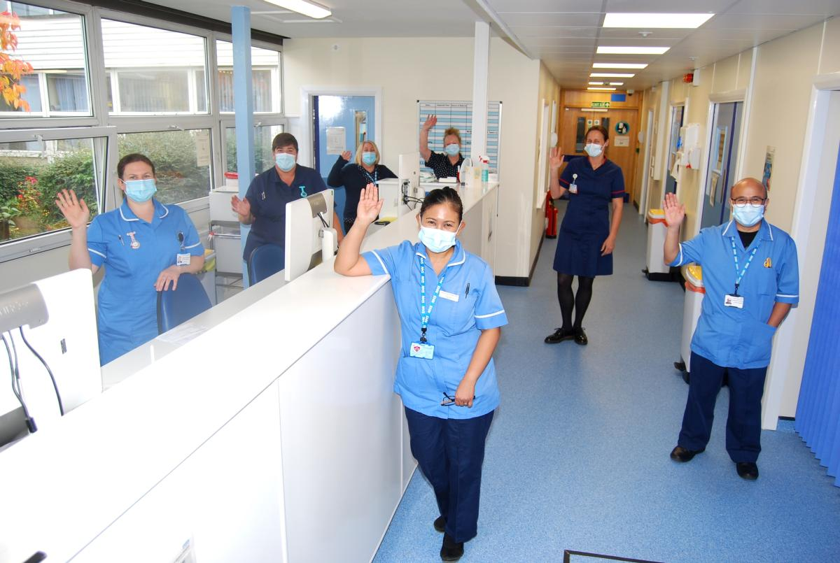 Some of the Same Day Emergency Care (SDEC) service team in the completed premises