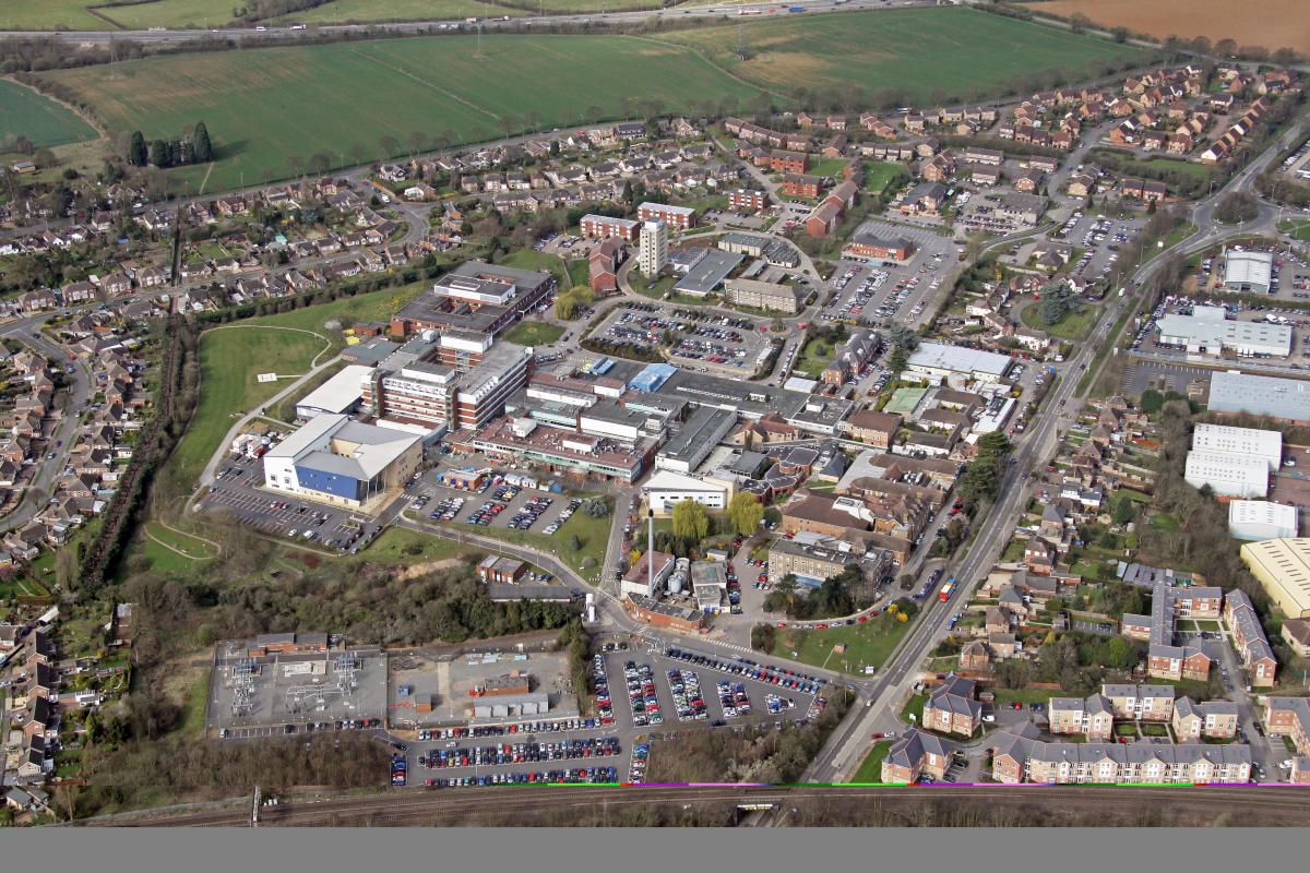 Current KGH hospital site from above