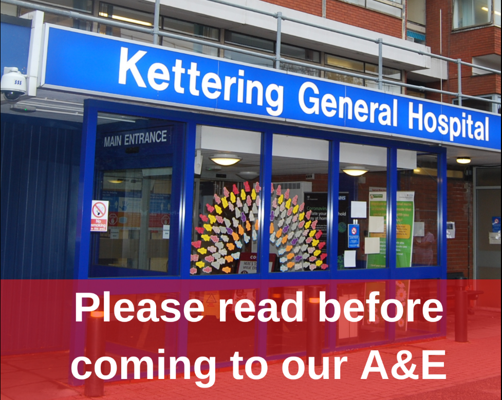 Please read before coming to our A&E