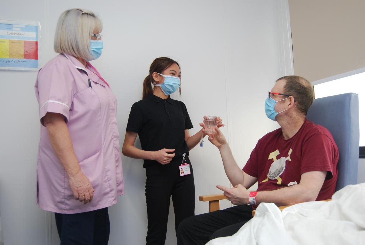 Tresham College students work at KGH during pandemic