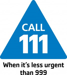 Call 111 when it is less urgent than 999