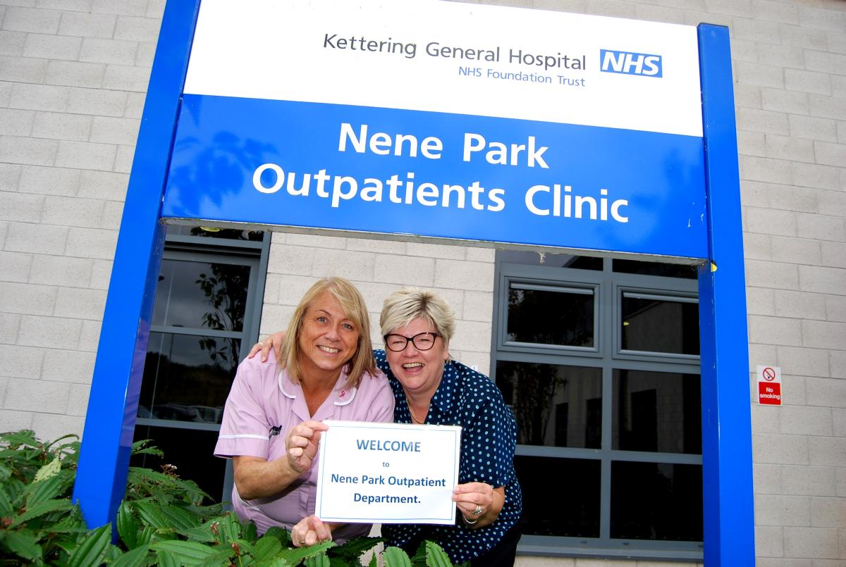image-KT Nene Park Outpatients welcome HCA Dawn Skeel and receptionist Lois Turvey.jpg